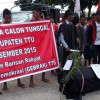 Tolak Pilkada Calon Tunggal, Mahasiswa Bawa Keranda Mayat