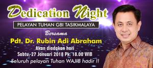 Dedication Night bersama Pdt Rubin Adi Abraham