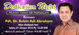 Dedication Night bersama Pdt Rubin Adi Abraham