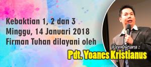 Kebaktian Minggu 14 Jan 2018