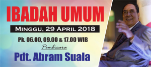 Ibadah Minggu 29 April 2018