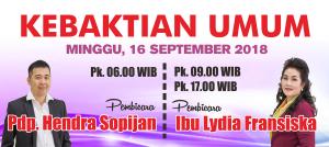 Kebaktian Minggu 16 Sept 2018