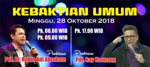 Kebaktian Minggu 28 Oktober 2018