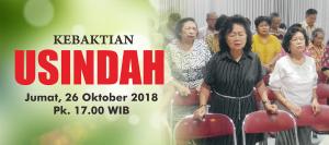 Kebaktian Usindah 26 Okt 2018