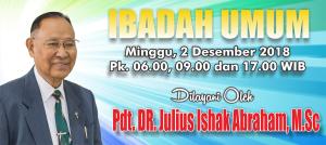 Kebaktian Minggu 2 Desember 2018