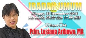 Kebaktian Minggu 25 November 2018