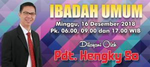 Kebaktian Minggu 16 Desember 2018
