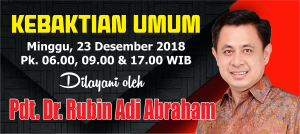 Kebaktian Minggu 23 Desember 2018