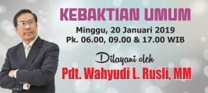 Kebaktian Minggu 20 Januari 2019