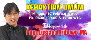 Kebaktian Minggu 17 Februari 2019