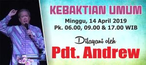 Ibadah Minggu 14 April 2019