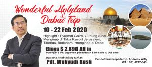 Holyland dan Dubai Trip Wahyudi Rusli