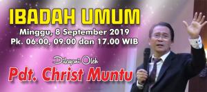 Ibadah Minggu 8 Sept 2019