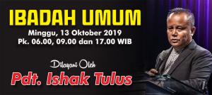 Ibadah Minggu 13 Okt 2019