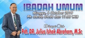 Ibadah Minggu 6 Okt 2019