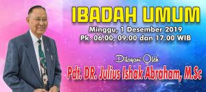 Ibadah Minggu 1 Des 2019