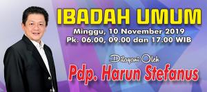 Ibadah Minggu 10 Nov 2019