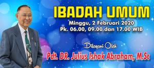 Ibadah Minggu 2 Feb 2020