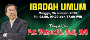 Ibadah Minggu 26 Jan 2020