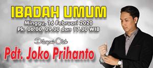 Ibadah Minggu 16 Feb 2020
