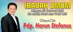 Ibadah Minggu 23 Feb 2020